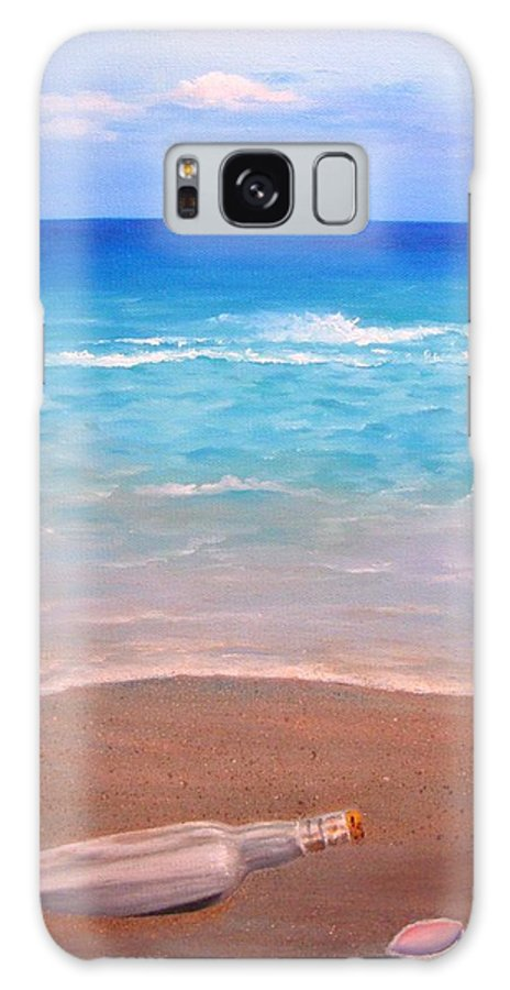 Seascape Galaxy S8 Case featuring the painting A Message For You by Francine Henderson