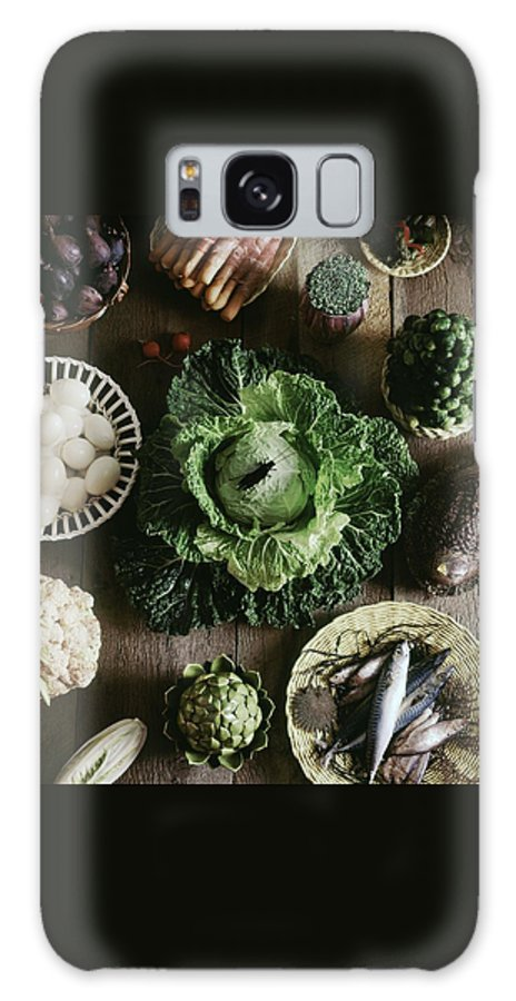 Decorative Art Galaxy S8 Case featuring the photograph A Mixed Variety Of Food And Ceramic Imitations by Fotiades
