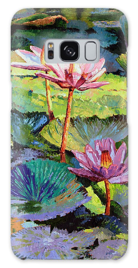 Water Lilies Galaxy S8 Case featuring the painting A Moment In Sunlight by John Lautermilch