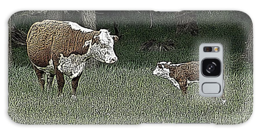 Cow Galaxy S8 Case featuring the photograph A Mother's Love by Sara Raber
