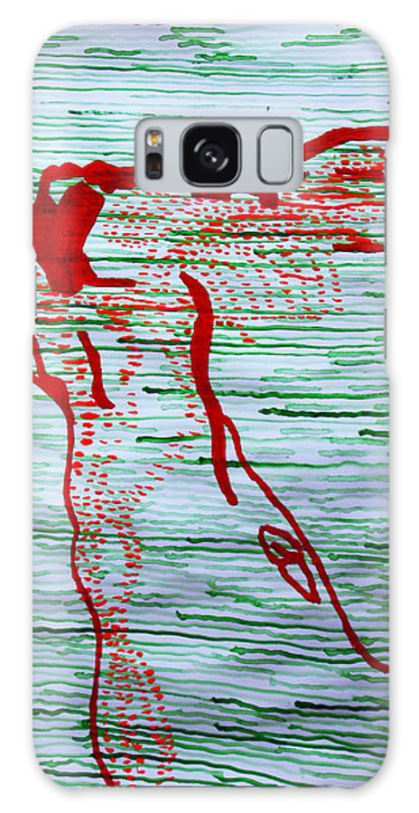 Jesus Galaxy S8 Case featuring the painting A New Nation - South Sudan by Gloria Ssali