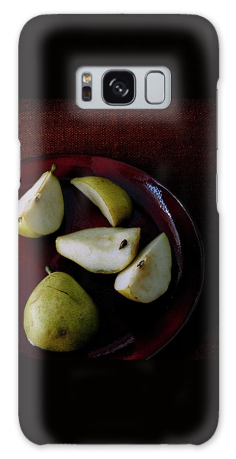 Pear Galaxy S8 Case featuring the photograph A Plate Of Pears by Romulo Yanes