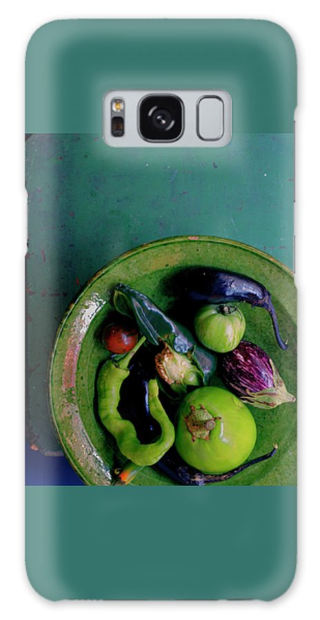 Fruits Galaxy Case featuring the photograph A Plate Of Vegetables by Romulo Yanes