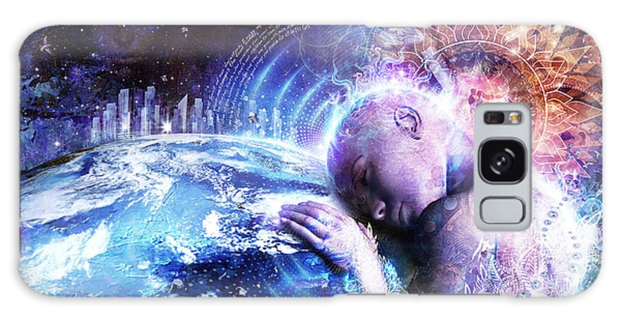 Cameron Gray Galaxy Case featuring the digital art A Prayer For The Earth by Cameron Gray