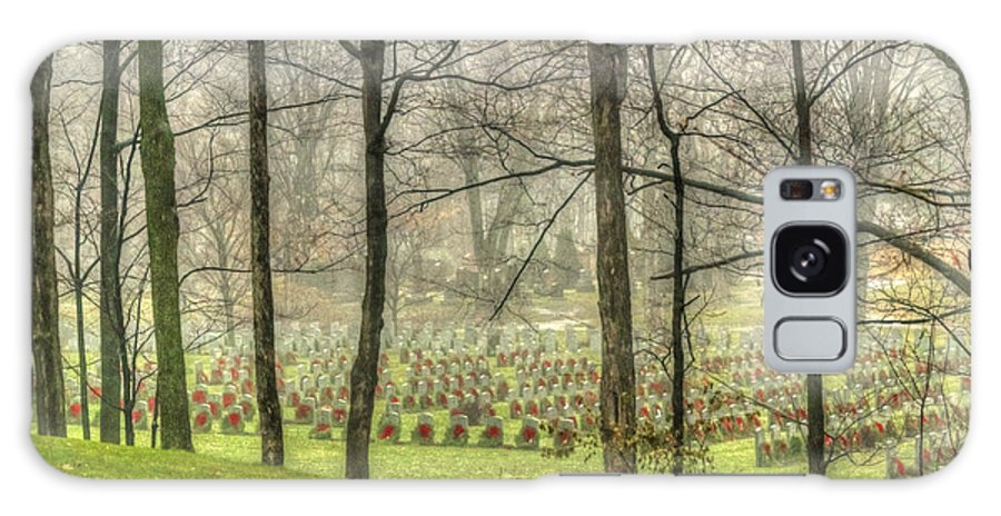 War Graves Galaxy S8 Case featuring the photograph A Rainy Day At The Cemetery by Joshua McCullough