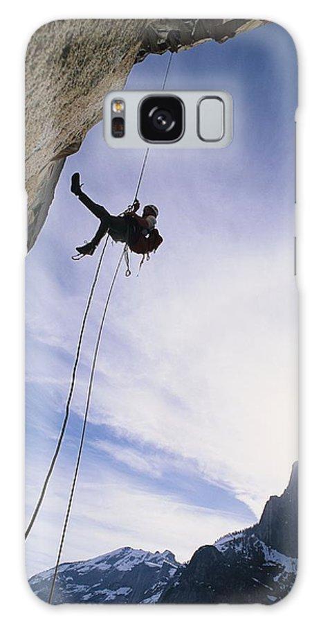 Sports Galaxy S8 Case featuring the photograph A Rock Climber On Washington Column by Gordon Wiltsie