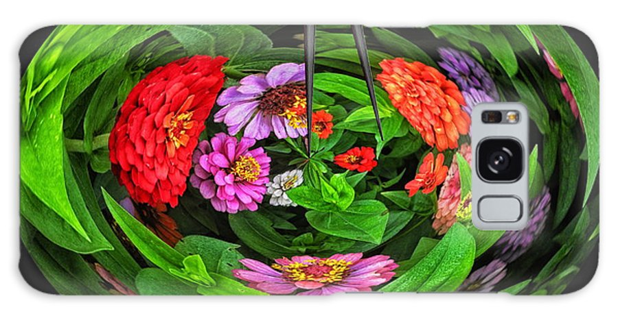 Little Planet Galaxy S8 Case featuring the photograph A Sea Of Zinnias 16 by Thomas Woolworth
