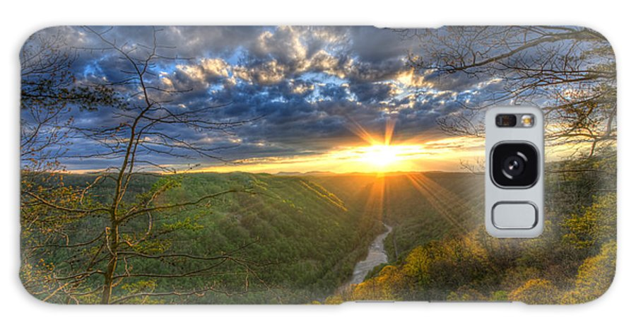 America Galaxy S8 Case featuring the photograph A Spring Sunset On Beauty Mountain In West Virginia. by Michael Bowen