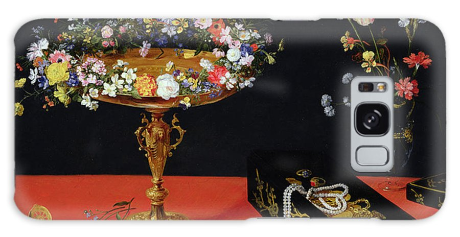 Jewellery Box Galaxy S8 Case featuring the painting A Still Life Of A Tazza With Flowers by Jan the Younger Brueghel