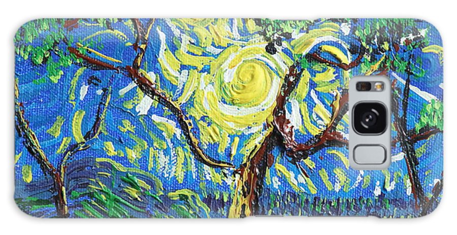 Landscape Galaxy S8 Case featuring the painting A Sunny Day For The Tree by Stefan Duncan