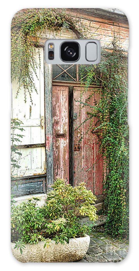France Galaxy S8 Case featuring the photograph A Very Old Door by Olivier Le Queinec
