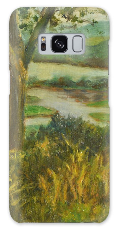 Hudson River Galaxy S8 Case featuring the painting A View From Boscobel by Phyllis Tarlow