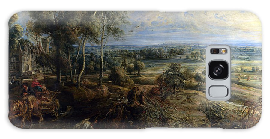 Peter Paul Rubens Galaxy S8 Case featuring the digital art A View Of Het Steen In The Early Morning by Peter Paul Rubens
