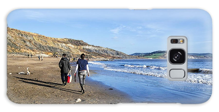 Back-beach Galaxy S8 Case featuring the photograph A Walk Along Back Beach by Susie Peek