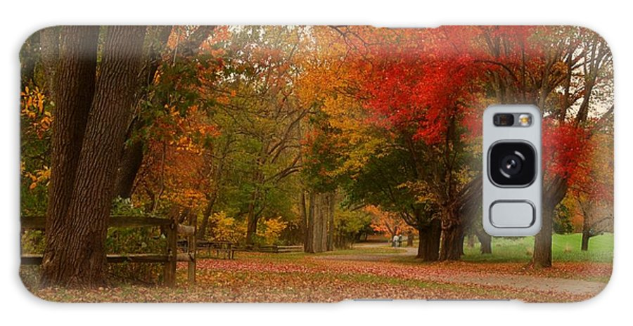 Autumn Galaxy S8 Case featuring the photograph A Walk In Autumn - Holmdel Park by Angie Tirado