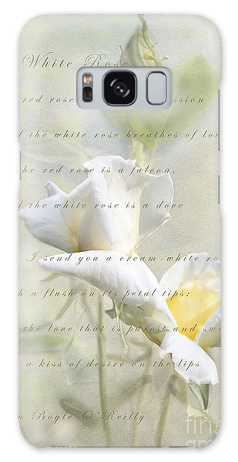 Rose Galaxy S8 Case featuring the photograph A White Rose by Linda Lees