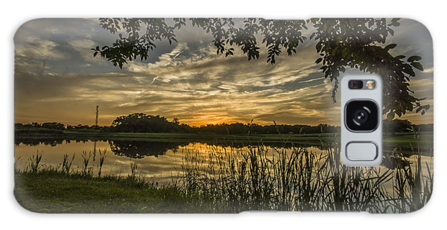 Galaxy S8 Case featuring the photograph A Window To Sunset by Paul Brooks
