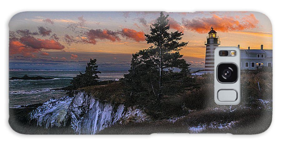 Winter Dusk Galaxy S8 Case featuring the photograph A Winter Dusk At West Quoddy by Marty Saccone