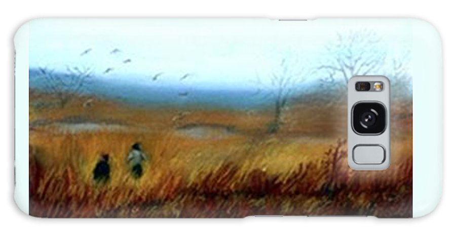 Figures Galaxy Case featuring the painting A Winter Walk by Gail Kirtz