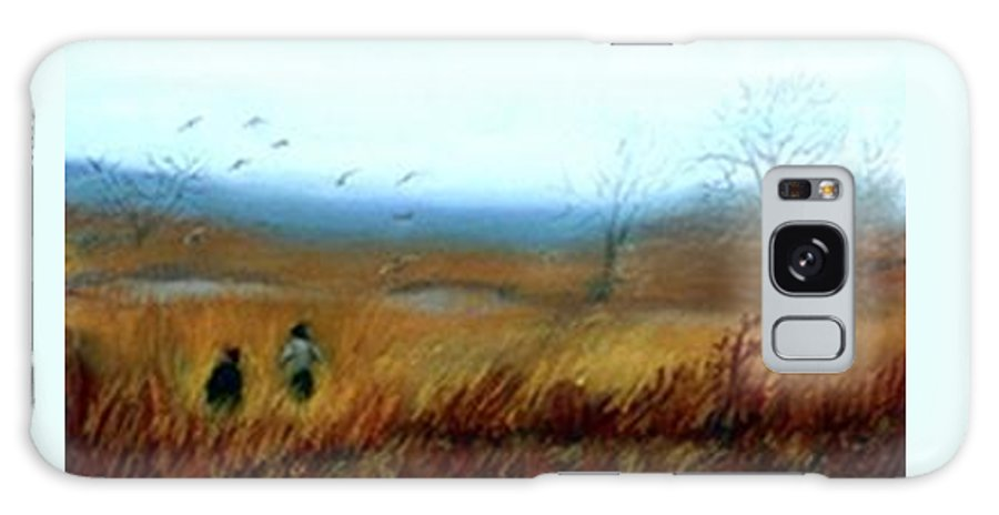 Figures Galaxy S8 Case featuring the painting A Winter Walk by Gail Kirtz