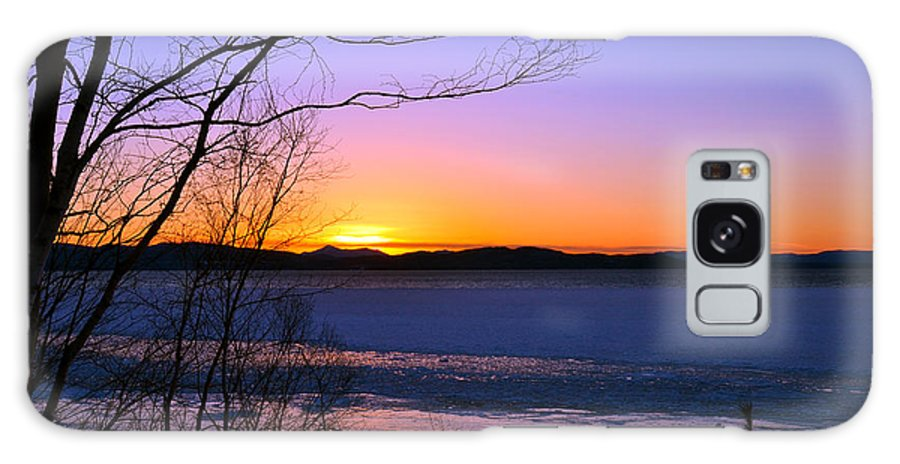Lake Champlain Galaxy S8 Case featuring the photograph A Winters Horizon by Wendell Ducharme Jr