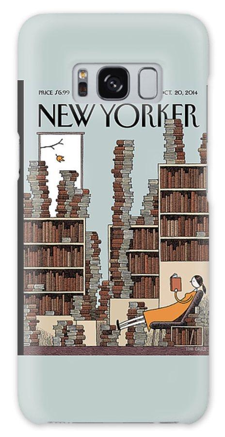 Fall Library Galaxy Case