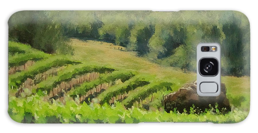 Winery Galaxy S8 Case featuring the painting Abacela Vineyard by Karen Ilari