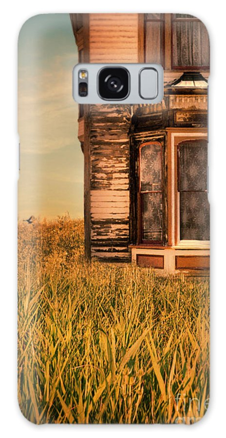 Door Galaxy S8 Case featuring the photograph Abandoned House In Grass by Jill Battaglia