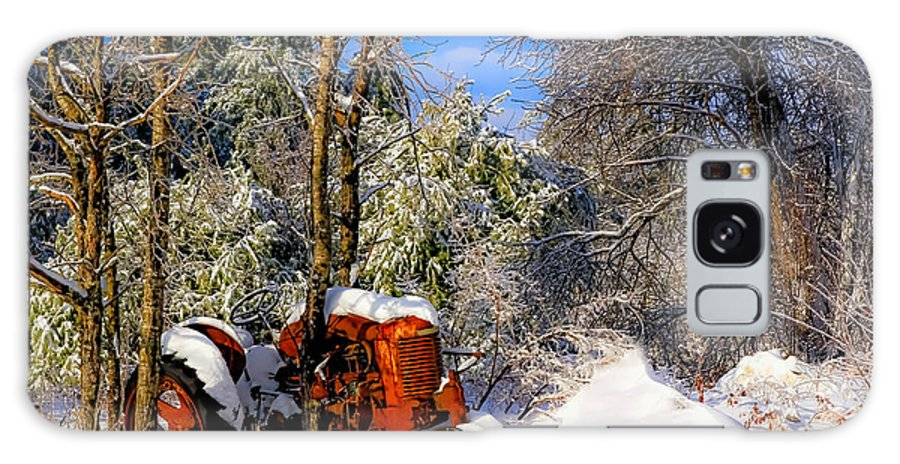 Maine Galaxy S8 Case featuring the photograph Abandoned Winter Tractor by Brenda Giasson