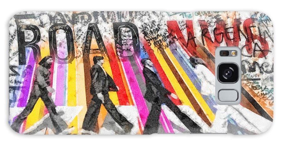 Abbey Road Galaxy S8 Case featuring the mixed media Abbey Road by Mo T
