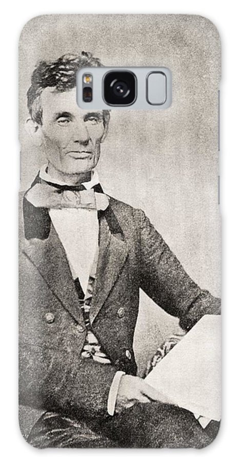 Abraham Lincoln Galaxy S8 Case featuring the photograph Abraham Lincoln, 1809 – 1865, Seen Here In 1854. 16th President Of The United States Of America by Bridgeman Images