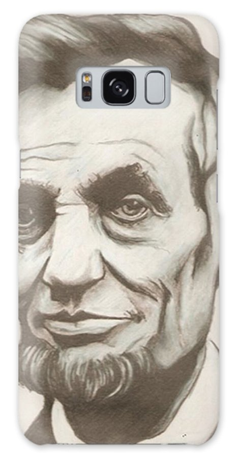 Abraham Lincoln Galaxy S8 Case featuring the drawing Abraham Lincoln Drawing by Robert Crandall
