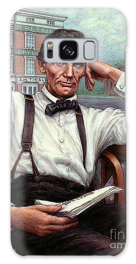 Occupy China Galaxy S8 Case featuring the painting Abraham Lincoln Of Springfield Bicentennial Portrait by Jane Bucci