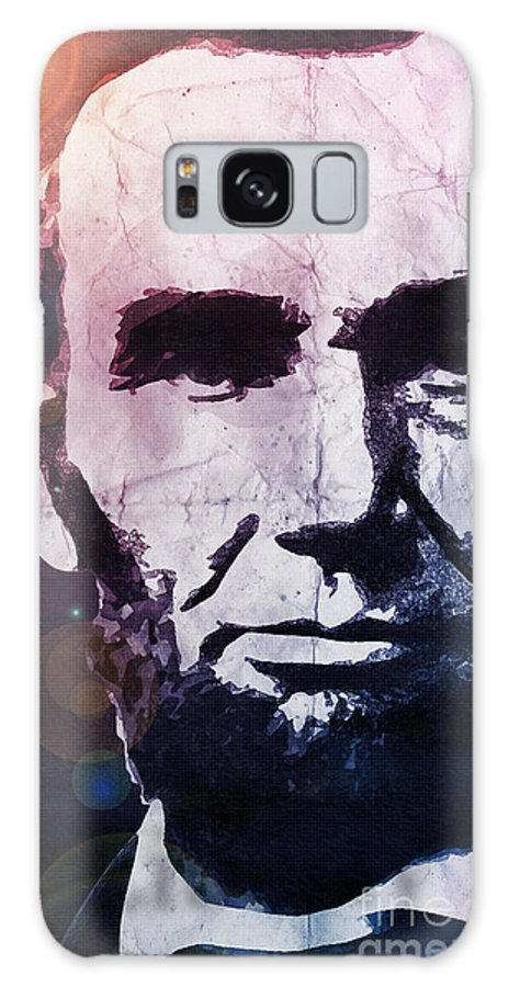 Lincoln Galaxy S8 Case featuring the digital art Abraham Lincoln by Phil Perkins