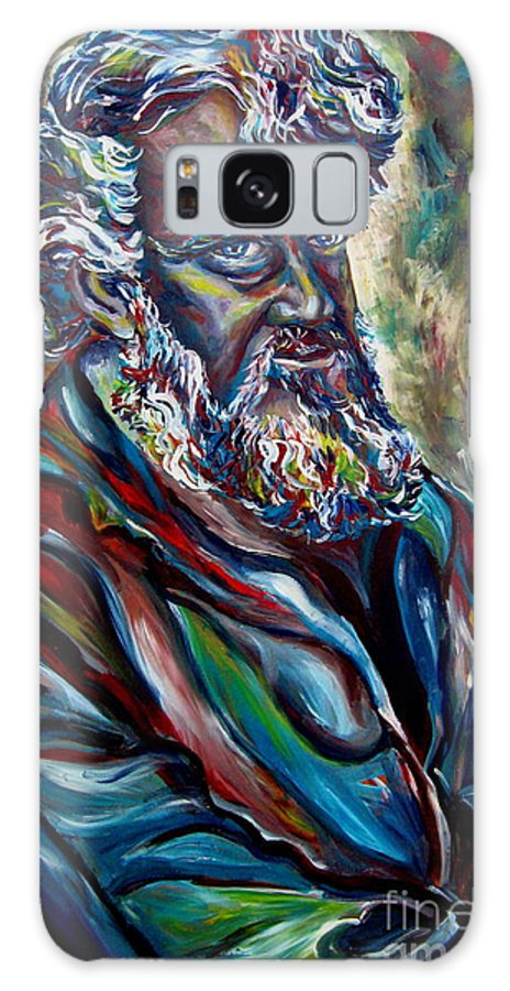 Abraham Patriarh Galaxy S8 Case featuring the painting Abraham Patriarch by Carole Spandau