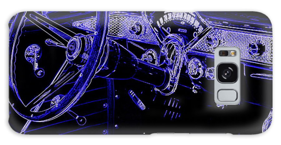 1955 Chevy Photos Galaxy S8 Case featuring the photograph Abstract 1955 Chevy Bel Air by Deborah Fay