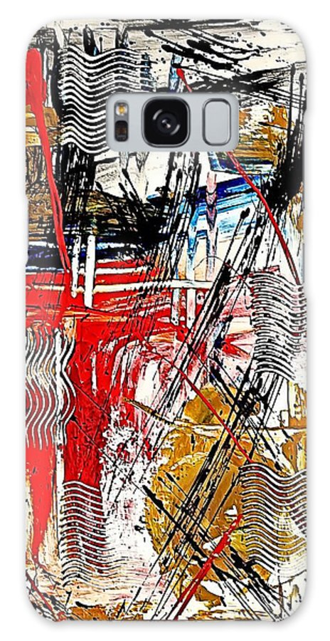 Abstract Galaxy S8 Case featuring the digital art Abstract 526-11-13 Marucii by Marek Lutek