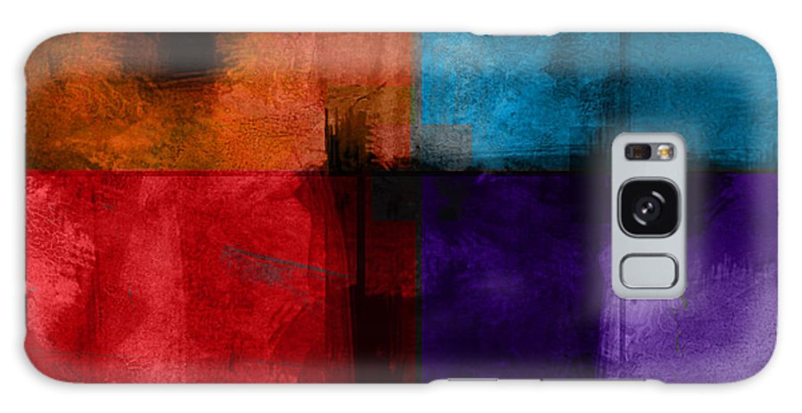 Abstract Galaxy S8 Case featuring the digital art abstract - art- Color Block Square by Ann Powell