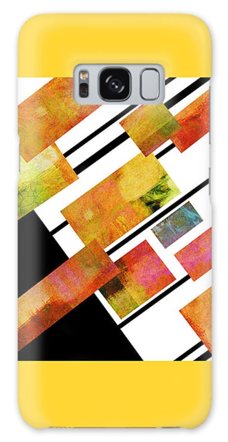 Abstract Galaxy S8 Case featuring the digital art abstract art Homage to Mondrian by Ann Powell