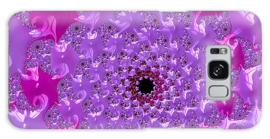 Radiant Orchid Galaxy S8 Case featuring the digital art Abstract Art Radiant Orchid Pink Purple Violet by Matthias Hauser