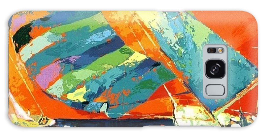 Galaxy S8 Case featuring the painting Abstract Boat Ride by IAMJNICOLE JanuaryLifeBrand