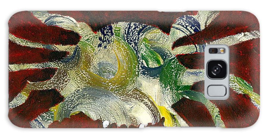 Crab Galaxy S8 Case featuring the painting Abstract Crab by Katie Sasser