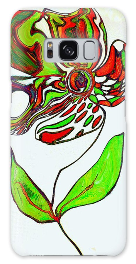 Flower Galaxy S8 Case featuring the painting Abstract Flower by Anne Costello