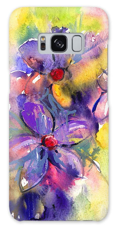 Abstract Watercolor Flowers Prints Galaxy S8 Case featuring the painting abstract Flower botanical watercolor painting print by Svetlana Novikova
