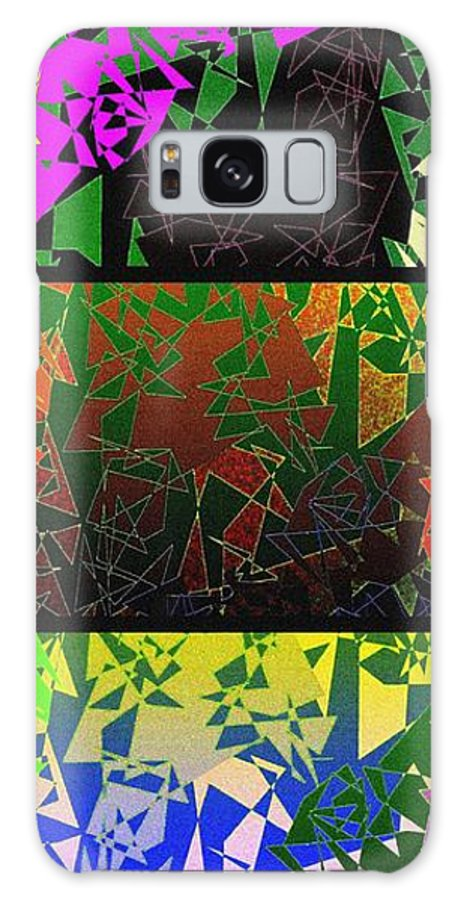 Abstract Fusion Galaxy S8 Case featuring the digital art Abstract Fusion 193 by Will Borden