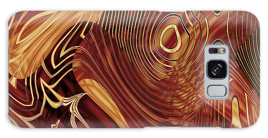 Abstract Galaxy S8 Case featuring the photograph Abstract Gold 3 by Carlos Diaz