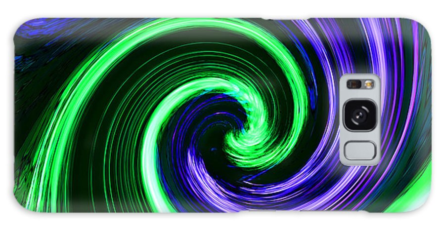 Abstracts Galaxy S8 Case featuring the photograph Abstract In Green And Purple by Art Block Collections