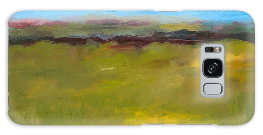 Abstract Expressionism Galaxy Case featuring the painting Abstract Landscape - The Highway Series by Michelle Calkins