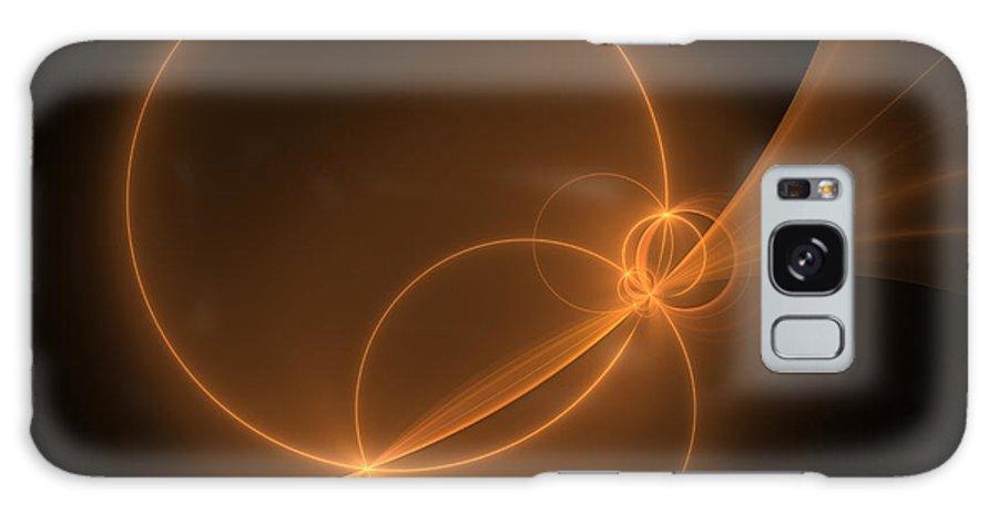Digital Art Galaxy S8 Case featuring the digital art Abstract Light Flight by Gabiw Art
