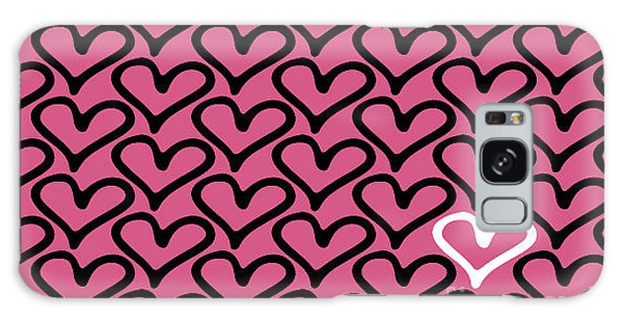 Love Galaxy S8 Case featuring the digital art Abstract Seamless Heart Pattern by Ann Volosevich